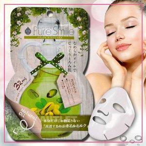 """""""Pure Smile"""" """"Natural Oil-in-Mask"""" Смягчающая косметическая маска для лица с фист. маслом, коллагеном и гиалуроновой кислотой"""