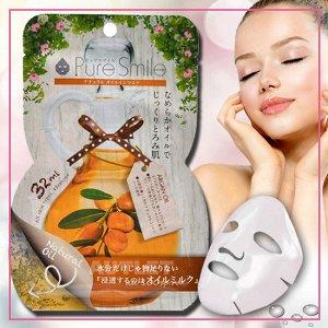 """""""Pure Smile"""" """"Natural Oil-in-Mask"""" Увлажняющая косметическая маска для лица с аргановым маслом"""