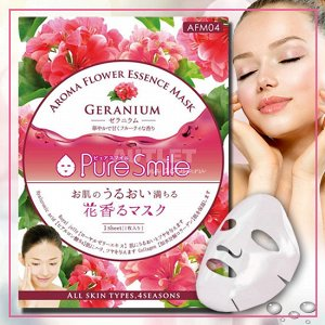 """""""Pure Smile"""" """"Aroma Flower"""" Восстанавливающая маска для лица с маслом герани"""