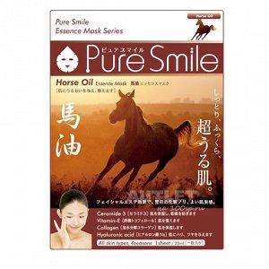 """""""Pure Smile"""" """"Essence mask"""" Питательная маска для лица с эссенцией лошадиного жира"""