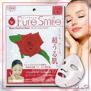 """""""Pure Smile"""" """"Essence mask"""" Восстанавливающая маска для лица с эссенцией розы"""