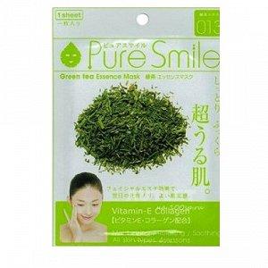 """""""Pure Smile"""" """"Essence mask"""" Антиоксидантная маска для лица с эссенцией зелёного чая"""