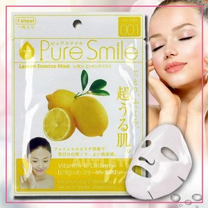 """Pure Smile"" ""Essence mask"" Маска для лица с эссенцией лимона"