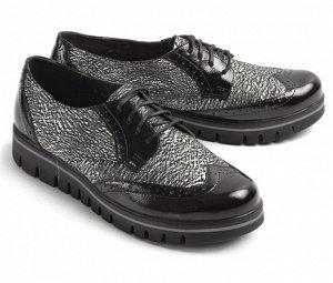 Ботинки летние женские, черный лак