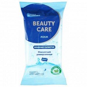 Салфетки Влажные Универсальные Алоэ + Витамин Е Биси (Beauty Care) №20