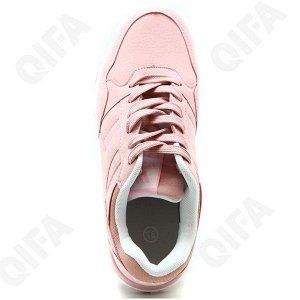 Кроссовки* 36 размер - 23,5 см.  Материал верха: Искусственный нубук,  Материал подкладки: Текстиль,   Материал стельки: Текстиль  Цвет: Розовый