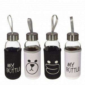 "Бутылка ""My bottle"" в чехле, 300 мл,  L6 W6 H17 см, 4в."