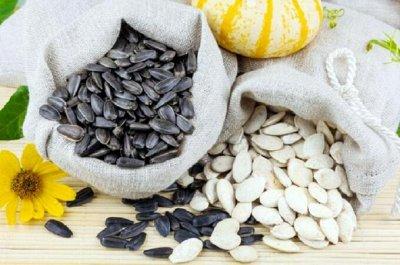 Сундук орехов и сухофруктов. — Семечки по 500 г — Орехи