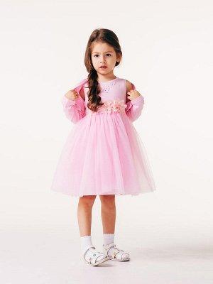 Комплект (сарафан, болеро) для девочек Розовый