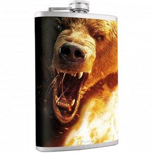 Фляжка Медведь 240 мл Helios (HS-F-B-A21-1)