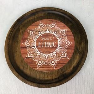 ETHNIC  Тарелка круглая, D15см, Гевея  1/36