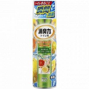 """""""ST"""" """"Shoushuuriki"""" Освежитель воздуха для туалета с ароматом грейпфрута 330 мл."""