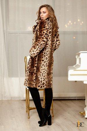 Domenica - Стильная шубка из искусственного меха Леопард рыжий