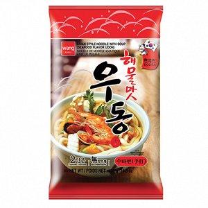 """Удон со вкусом морепродуктов """"Seafood flavor udong""""  424 г"""