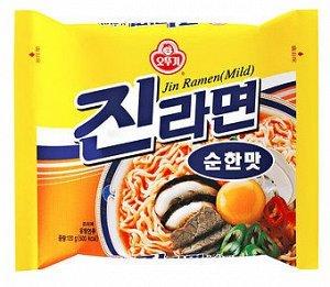 Лапша Jin Ramen (Mild) со вкусом грибов 120г