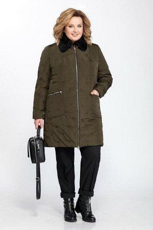 Куртка Куртка Pretty 829  Состав ткани: ПЭ-100%;  Рост: 164 см.  Куртка утепленная, прямого силуэта, чуть заужена к низу. Спереди застежка на молнию двустороннюю. На деталях переда обработаны карманы