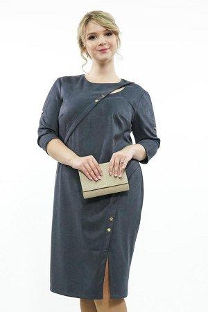 Платье Фасон: Платье; Длина платья: Ниже колена; Материал: Спандекс; Цвет: Серый , Синий Платье спандекс с капелькой на плече Длина изделия 50 размера по спинке - 102 см. В каждом следующем размере дл