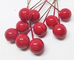 Декоративные ягодки. Красный.