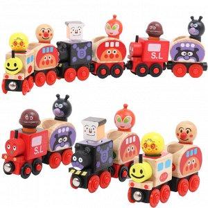Поезд с вагонами