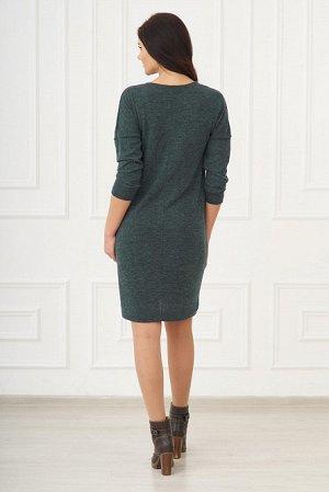 Платье изумрудного цвета, размер 52-54