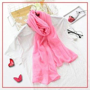 Шарф нежно-розовый