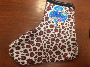 Цветные носки - лодочки цвет: леопардовые