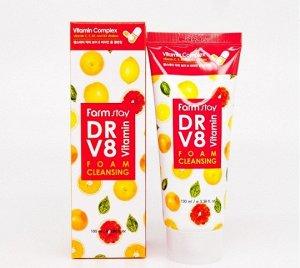 FarmStay DR.V8 Vitamin Foam Cleansing Витаминная очищающая пенка 100мл