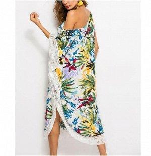Платье пляжное цвет; №1