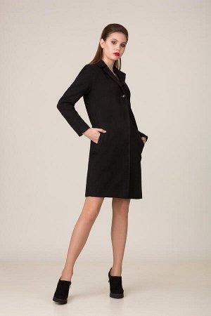 Пальто Пальто Rosheli 636 черный  Состав ткани: ПЭ-60%; Шерсть-40%;  Рост: 164 см.  Пальто из кашемира на подкладке. Современный силуэт, классический черный цвет придают пальто особую элегантность. В