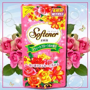 """Nihon Detergent"" ""Sweet Floral"" Кондиционер для белья с нежным ароматом роз 1200мл. 1/8"