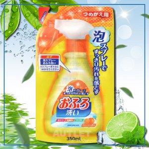 """""""Nihon Detergent"""" Чистящая спрей-пена для ванны (с антибактериальным эффектом и апельсиновым маслом), запасной блок"""