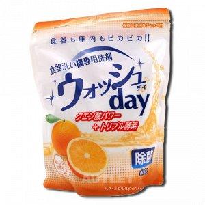 """""""Nihon Detergent"""" Средство для мытья посуды в посудомоечной машине (порошковое, с ароматом апельсина)"""