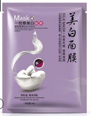 Тканевая маска с протеинами шелка. Отбеливание