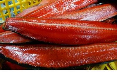 🐟Икра минтая! Гребешок по-Шанхайский. Рыбка малосол — Нерочка малосоленая, подкопченая — Соленые и копченые