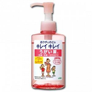 """""""Lion"""" """"KireiKirei"""" ополаскиватель для полости рта с антибактериальным эффектом и ментолово-персиковым вкусом"""