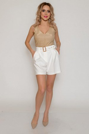 Шорты Ткань: костюмная мягкая, средней плотности, эластичная, со средним стрейчевым эффектом. Не просвечивает. Состав: полиэстер 97%, спандекс 3% Супер-модная модель шорт средней длины в спортивном ст