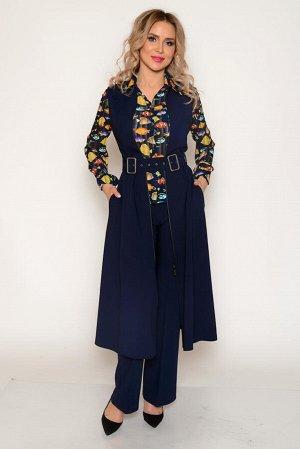"""Сарафан Ткань тонкая костюмная со средним стрейчевым эффектом (тянется). Состав: полиэстер 94 %, спандекс 6%. Цвет сарафана: тёмно-синий Нарядное платье-сарафан в стиле """"ретро"""", приталенное, длиной """"м"""
