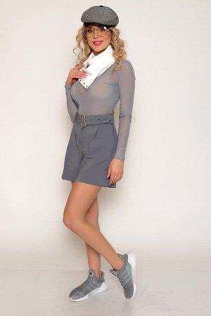 Шорты Ткань: костюмная мягкая, средней плотности, эластичная, со средним стрейчевым эффектом. Не просвечивает. Состав: полиэстер 94%, спандекс 6% Супер-модная модель шорт средней длины в спортивном ст