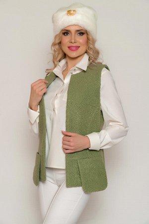 """ЖИЛЕТ Основная ткань: костюмная (для пальто) """"букле"""" на трикотажной основе. Плотная, легкая, ворсистая, с хаотичными мелкими завитками под каракуль, тёплая. Состав: полиэстер 100% Подкладочная ткань:"""