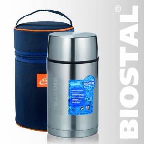 """Термос Biostal """"Авто"""" NRP-800 0,8л (широкое горло,суповой, с термочехлом)"""