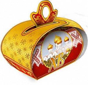 Пасхальная коробочка 99х92мм глиттер