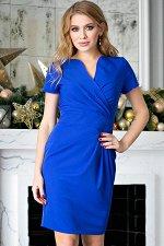 Платье Злата синяя (П-26-2)