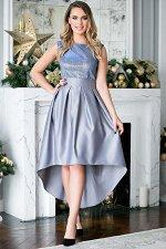 Платье Анита цвет серо-голубой (П-180-2)