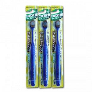 Зубная щетка (с широкой V-образной чистящей головкой, комбинированным ворсом в 6 рядов и утонченными кончиками)