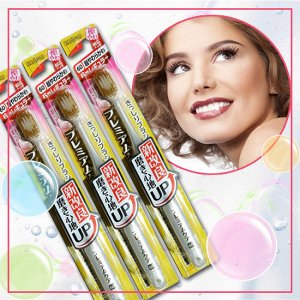 Зубная щетка (с широкой стандартной чистящей головкой, комбинированным ворсом в 6 рядов и утонченными кончиками)