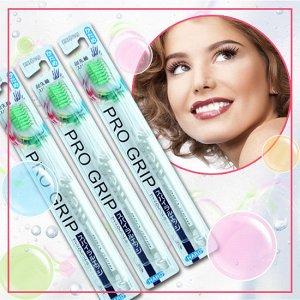 Зубная щетка (для улучшенного очищения лунки зуба и межзубного пространства со спиральными и утончёнными ворсинками)