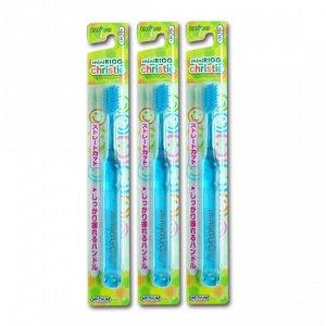Зубная щетка (для детей от 3-х лет. С прямым срезом ворса и пластмассовой ручкой)
