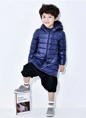 Легкое демисезонное детское пальто, цвет синий
