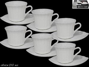 Чайный сервиз 12пр. в под.уп.(х8)  Опаловое стекло