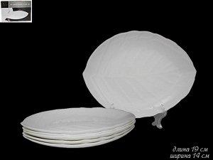 Набор из 6 тарелок 19см. в под.уп.(х12)  Опаловое стекло